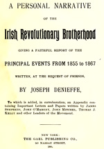 Danieffe, Narrative of the Irish Revolutionary Brotherhood